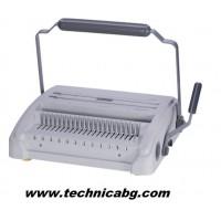Комбинирана подвързваща машина SG-7588CW- с пластмасови гребени до 500л.и метални гребени