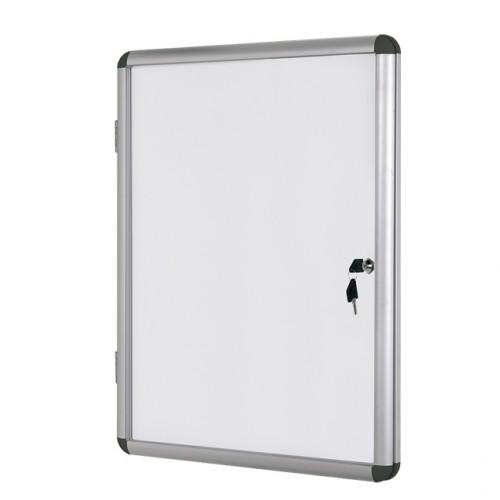 Информационно бяло магнитно табло със заключване Bi-Office - 98х94 см.